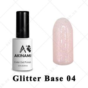 004 - Akinami Glitter Base Gel, 9ml