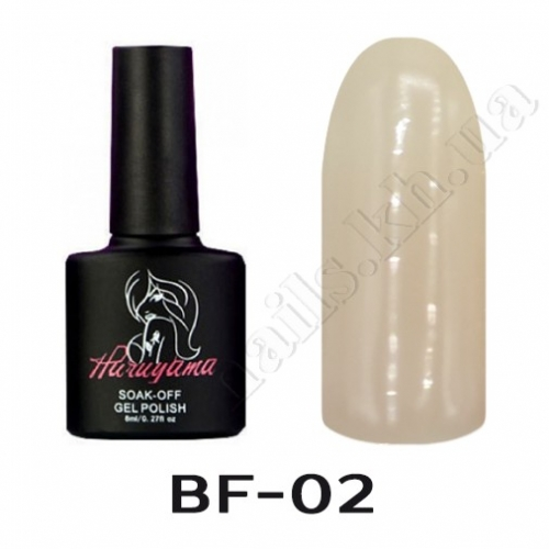BF002 HARUYAMA Гель-лак камуфляж № 02, 8 мл